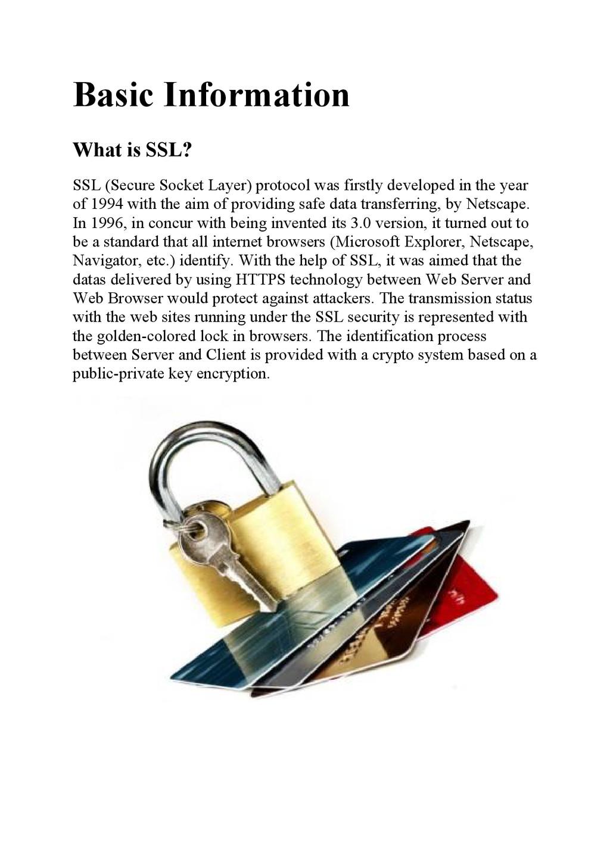 Basic Information What is SSL? SSL (Secure Sock...