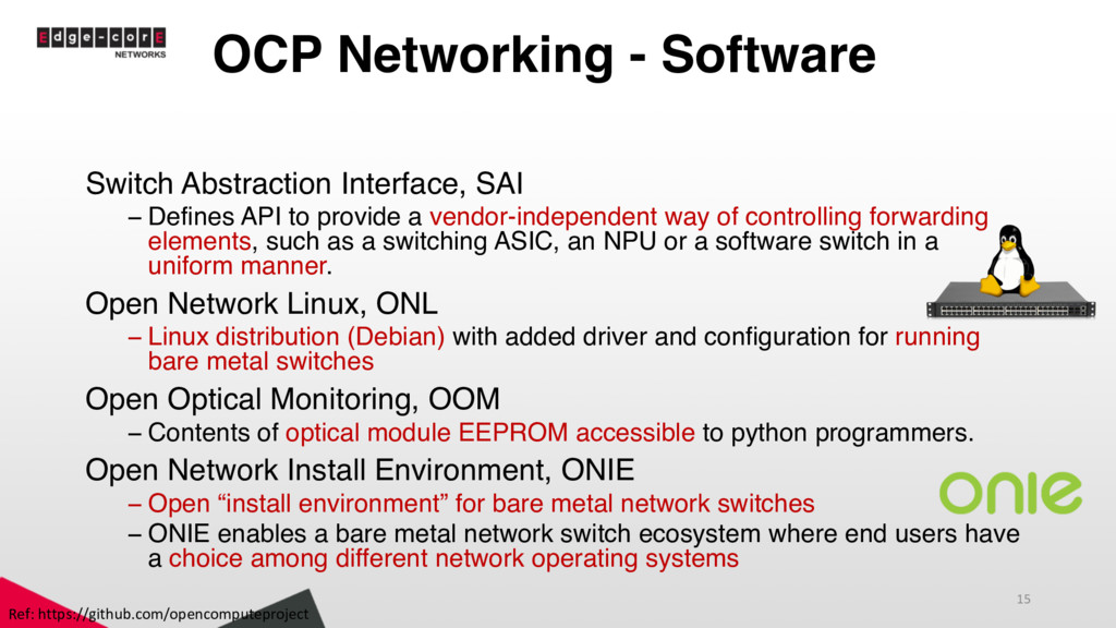 OCP Networking - Software Switch Abstraction In...