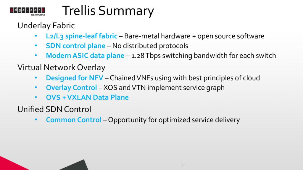 Trellis Summary Underlay Fabric • L2/L3 spine-l...