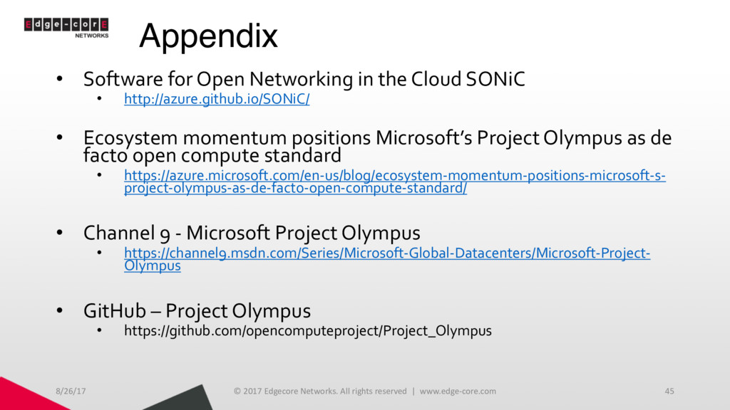 Appendix • Software for Open Networking in the ...