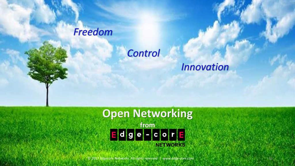 Open Networking from Freedom Control Innovation...