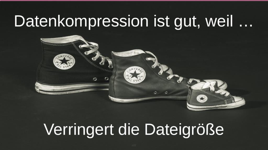 Datenkompression ist gut, weil … Verringert die...