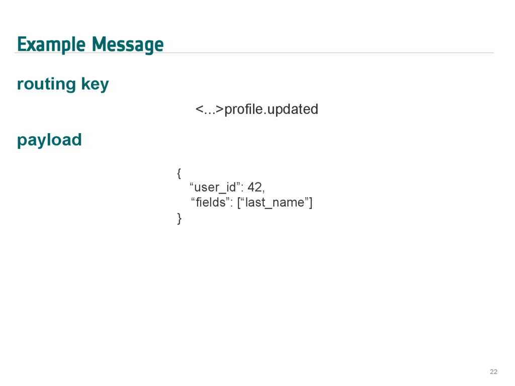 Example Message routing key <...>profile.update...