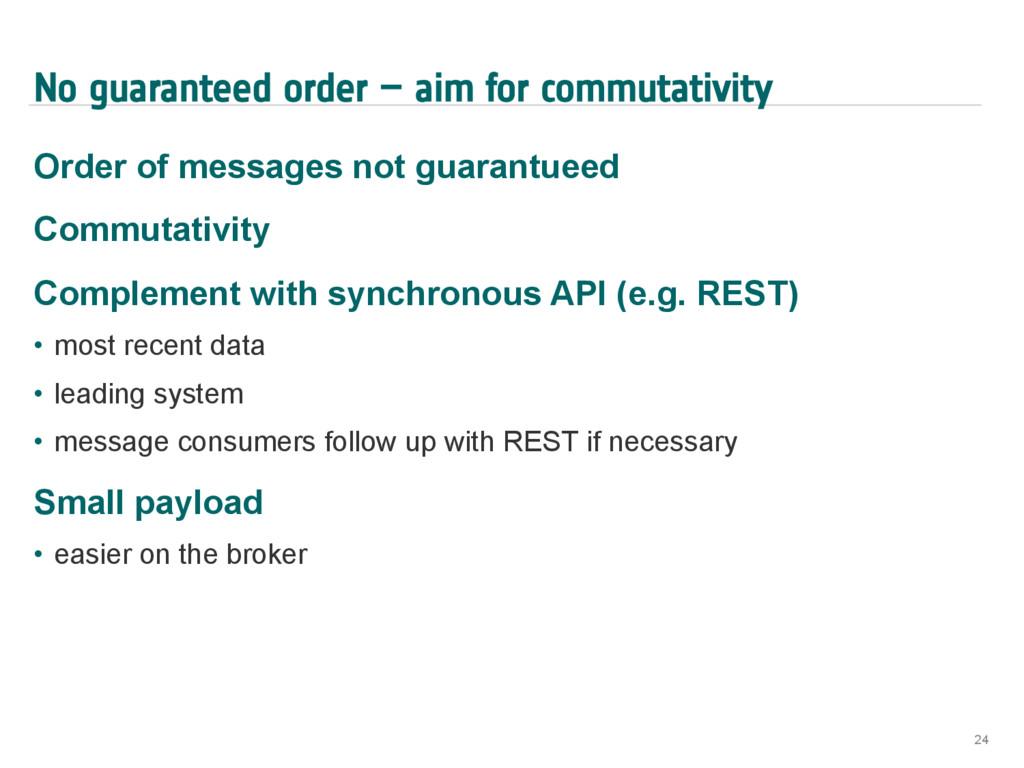 No guaranteed order – aim for commutativity Ord...
