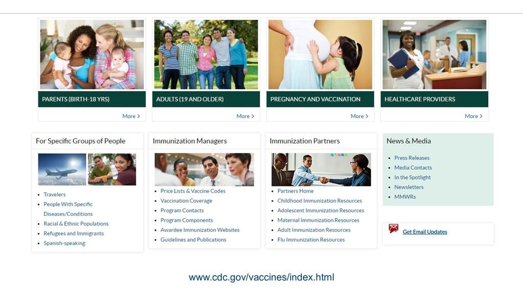 www.cdc.gov/vaccines/index.html