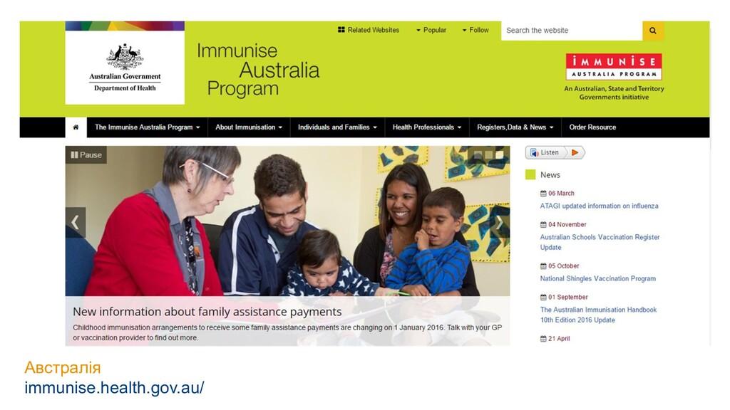 Австралія immunise.health.gov.au/