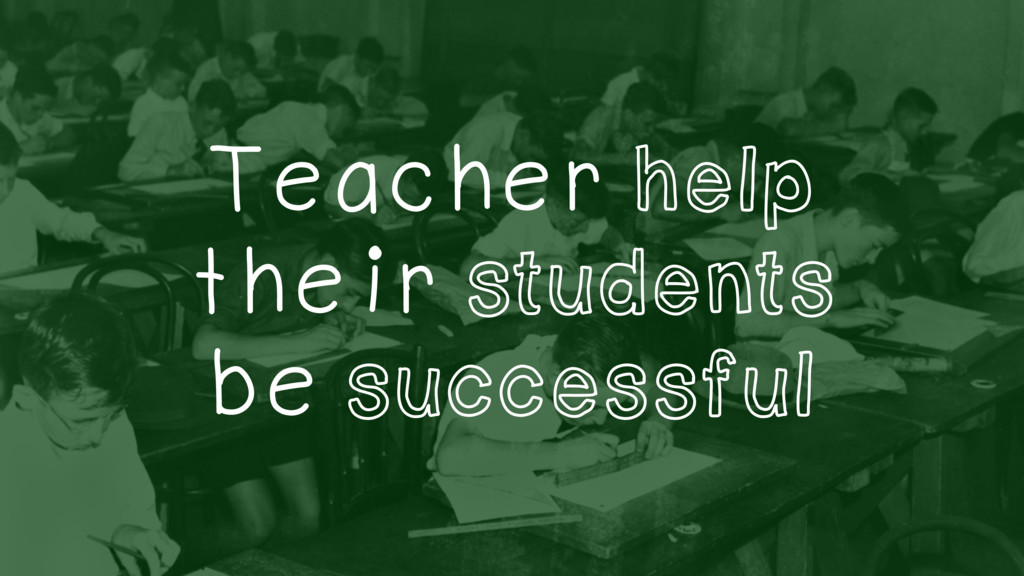Teacher help their students be successful