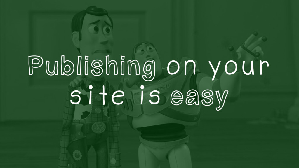 Publishing on your site is easy