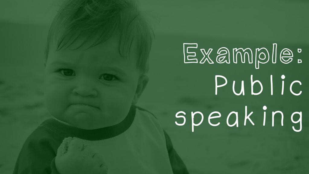 Example: Public speaking