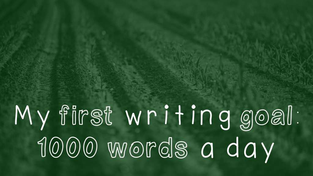 My first writing goal: 1000 words a day
