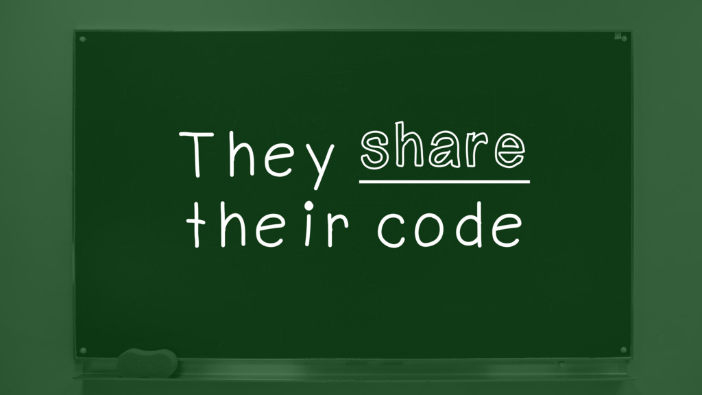 They ________ their code share