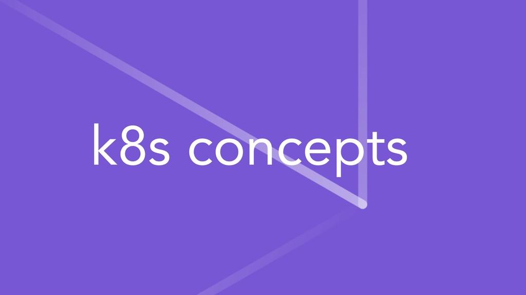 k8s concepts