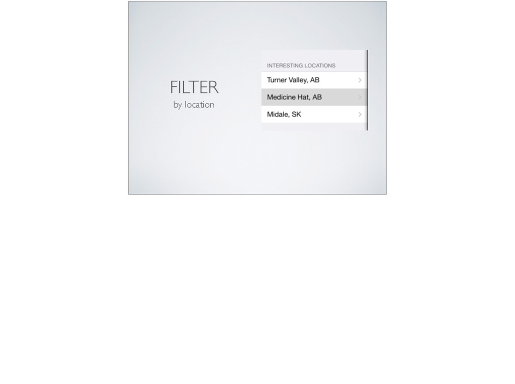 FILTER by location
