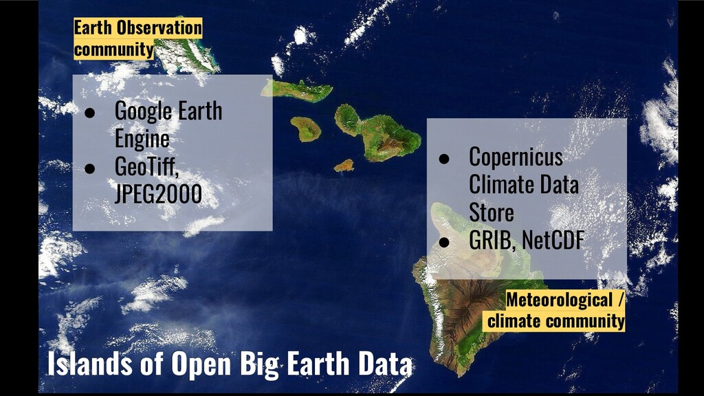 Islands of Open Big Earth Data Meteorological /...