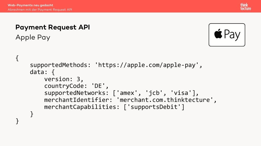 Apple Pay Web-Payments neu gedacht Abrechnen mi...