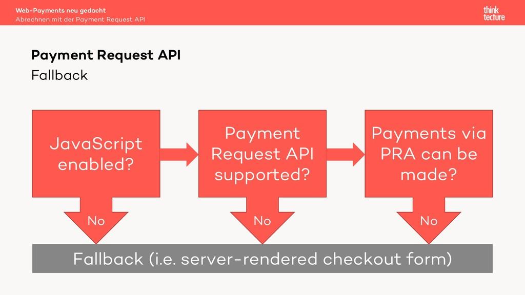 Fallback Web-Payments neu gedacht Abrechnen mit...
