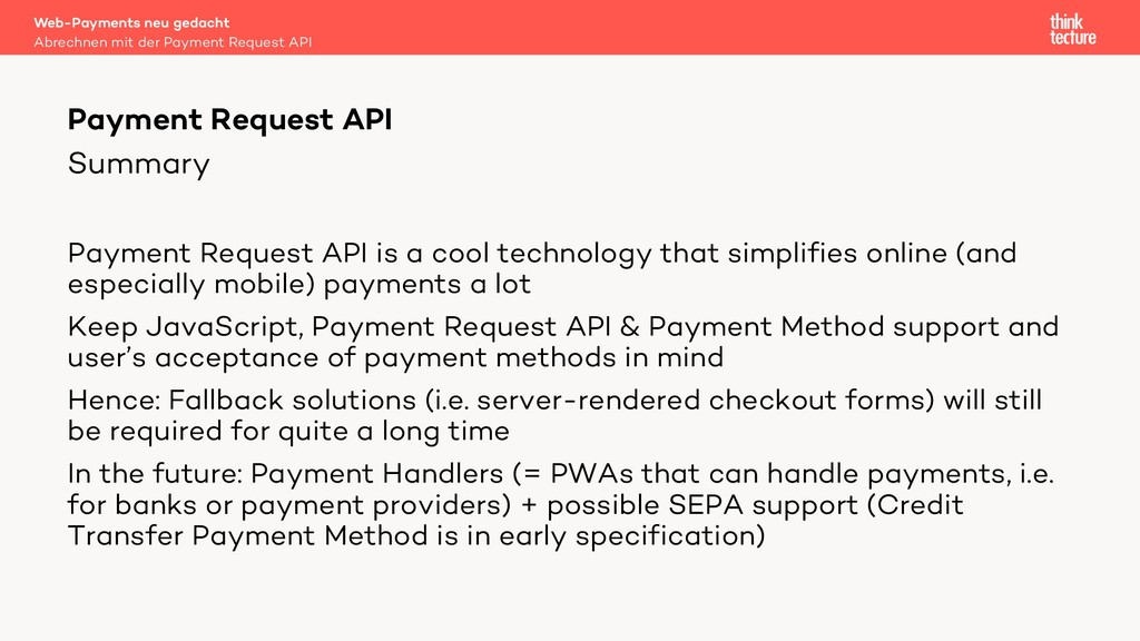 Summary Payment Request API is a cool technolog...