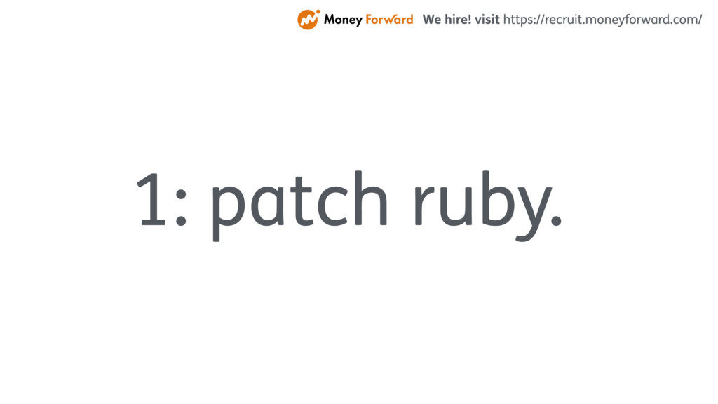 1: patch ruby.