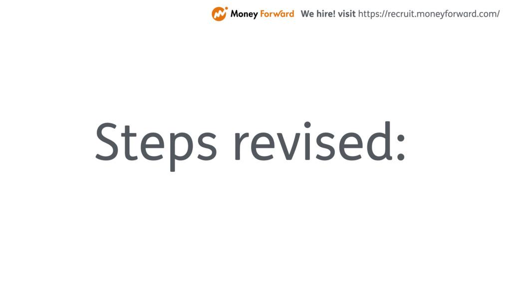 Steps revised: