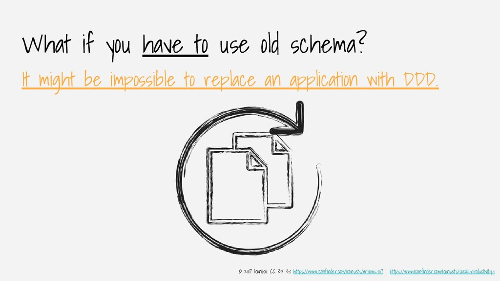 What if you have to use old schema? It might be...
