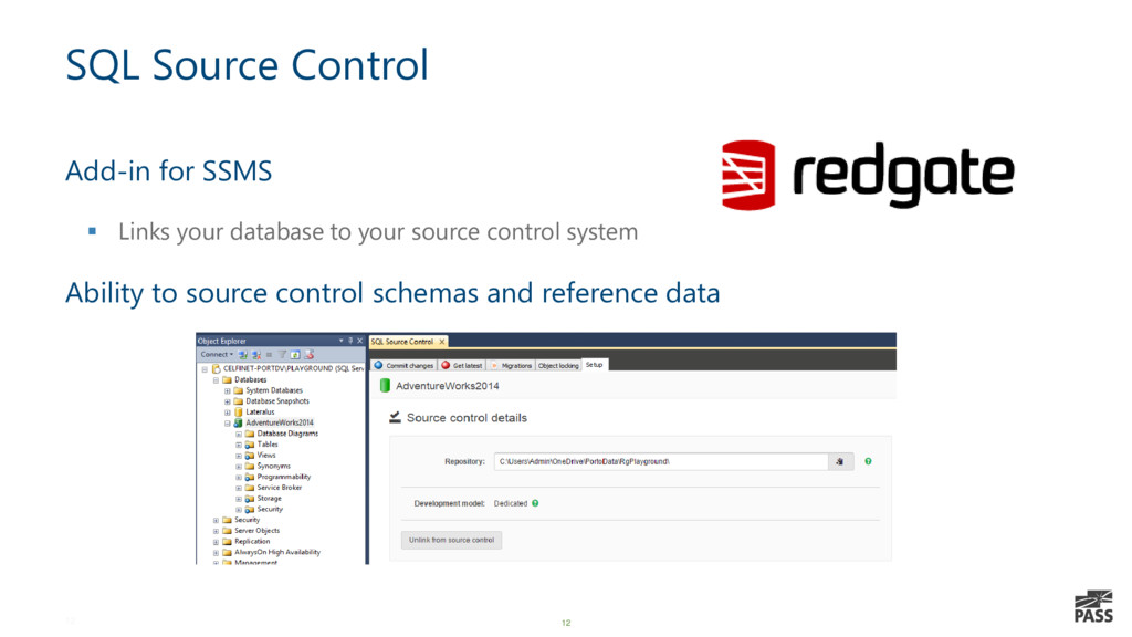12 SQL Source Control Add-in for SSMS ▪ Links y...