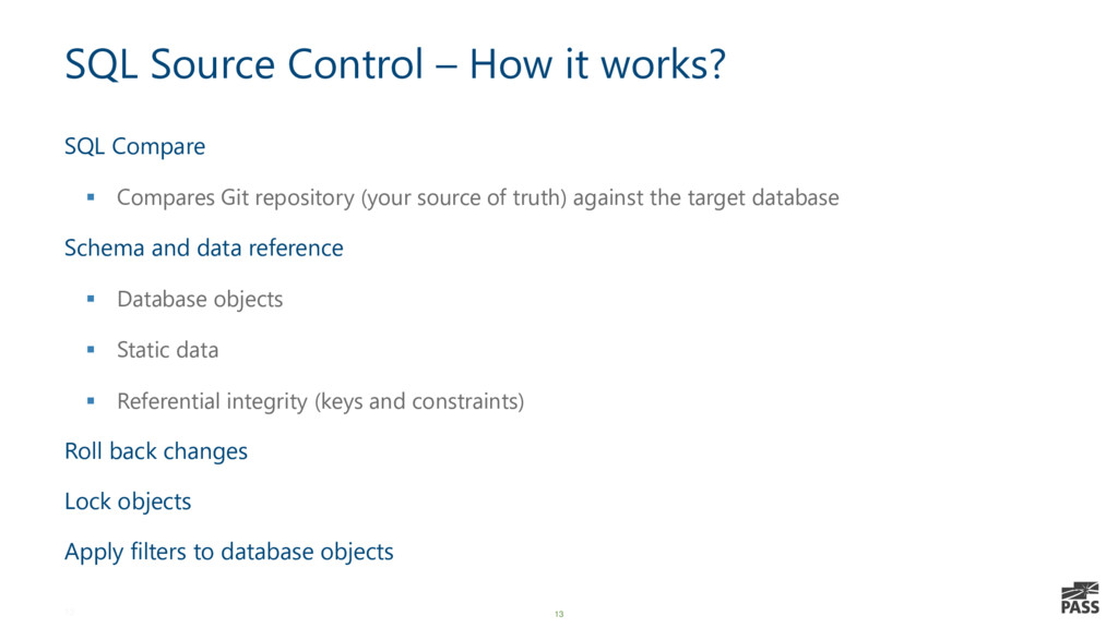 13 SQL Source Control – How it works? SQL Compa...