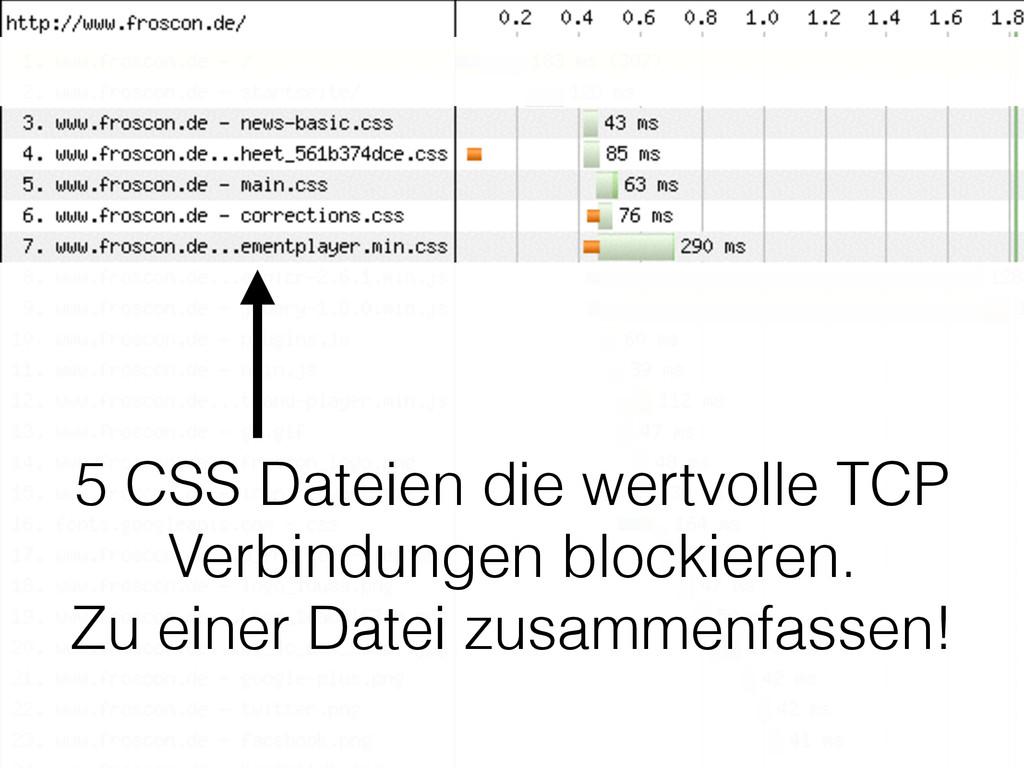 5 CSS Dateien die wertvolle TCP Verbindungen bl...