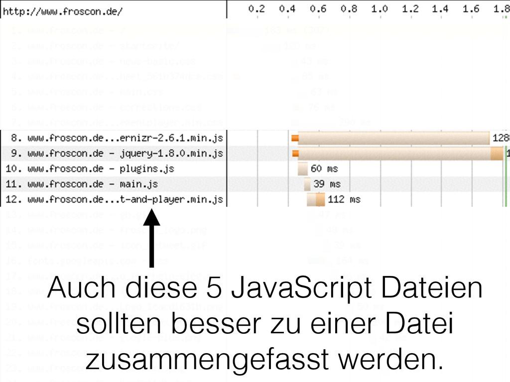 Auch diese 5 JavaScript Dateien sollten besser ...
