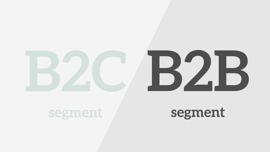 ! B2C segment ! B2B segment