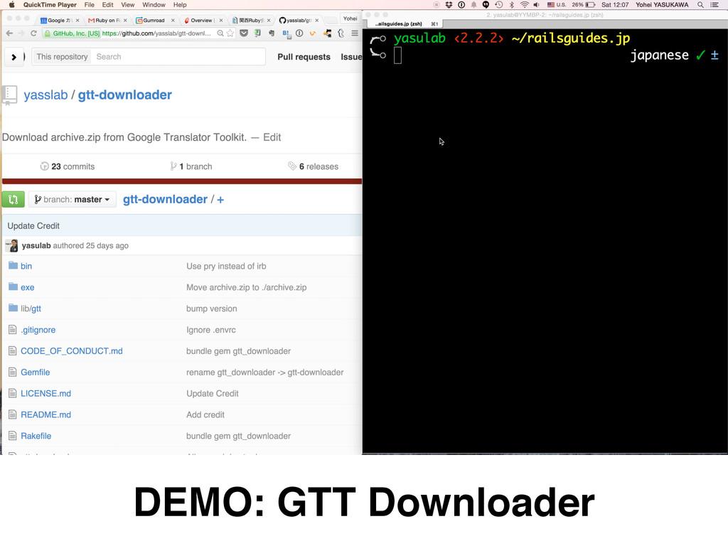 DEMO: GTT Downloader