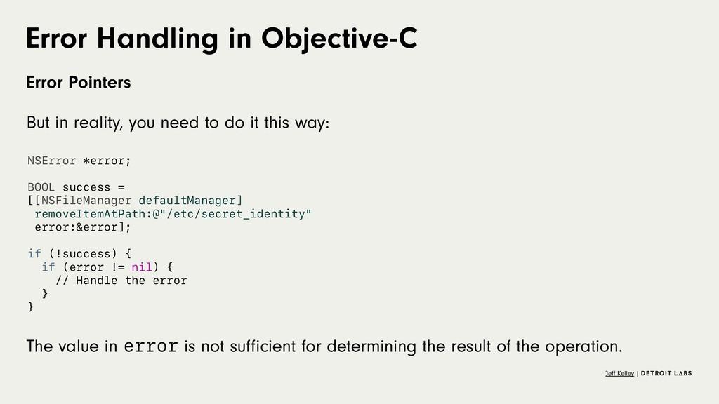 Error Handling in Objective-C Error Pointers Bu...