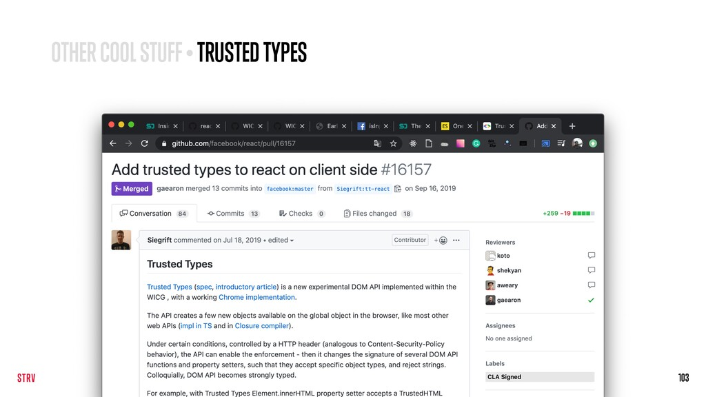 103 OTHER COOL STUFF • TRUSTED TYPES