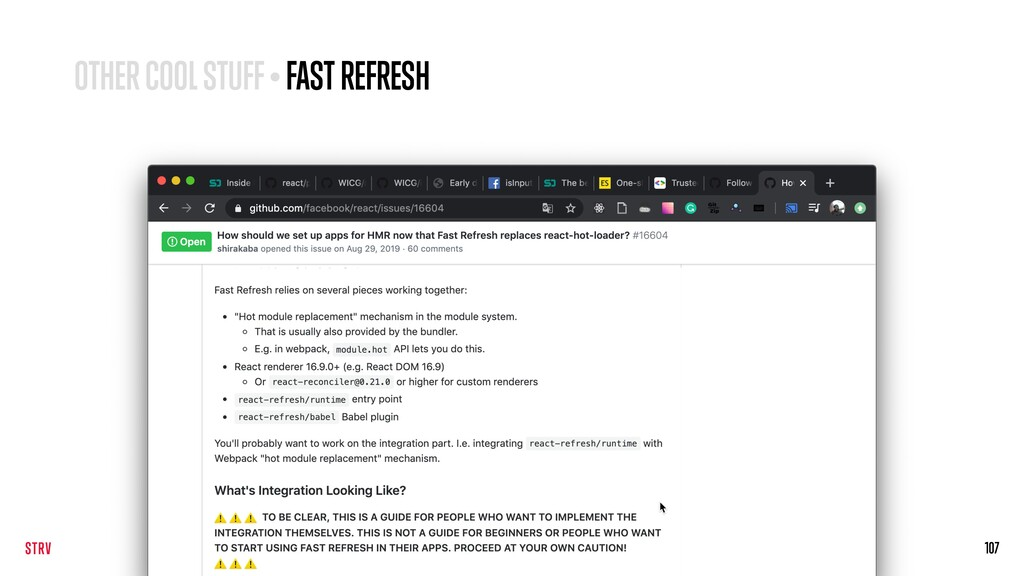 107 OTHER COOL STUFF • FAST REFRESH