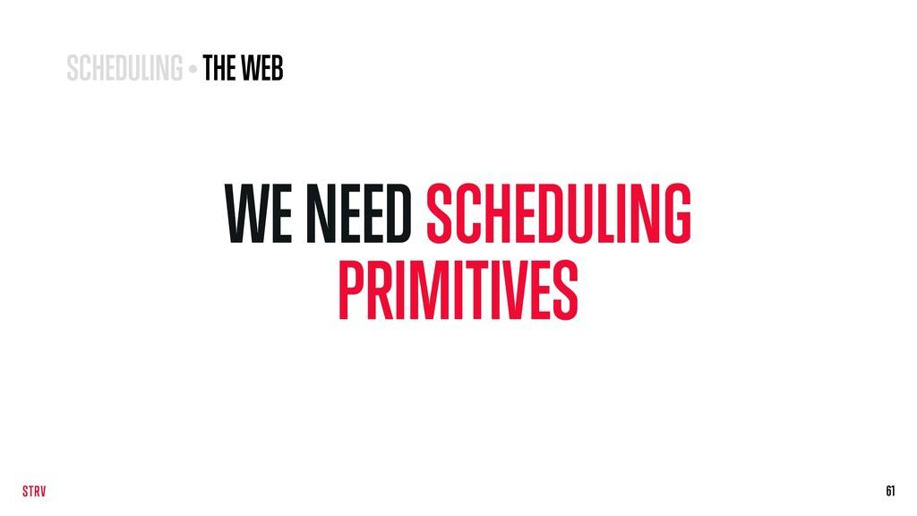 WE NEED SCHEDULING PRIMITIVES 61 61 SCHEDULING ...
