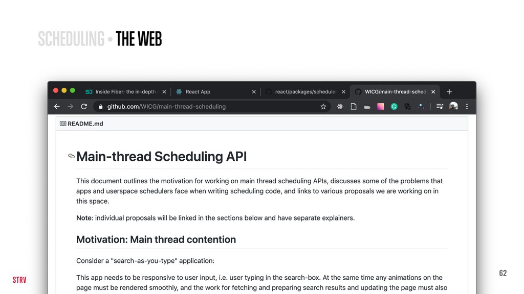 62 SCHEDULING • THE WEB