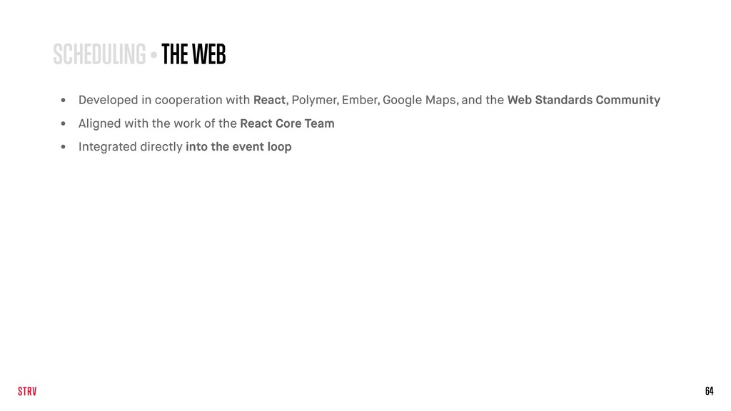 64 SCHEDULING • THE WEB • Developed in cooperat...