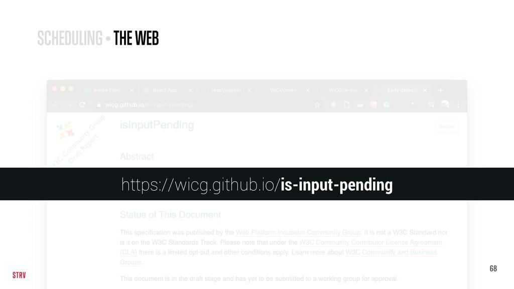 68 SCHEDULING • THE WEB https://wicg.github.io/...