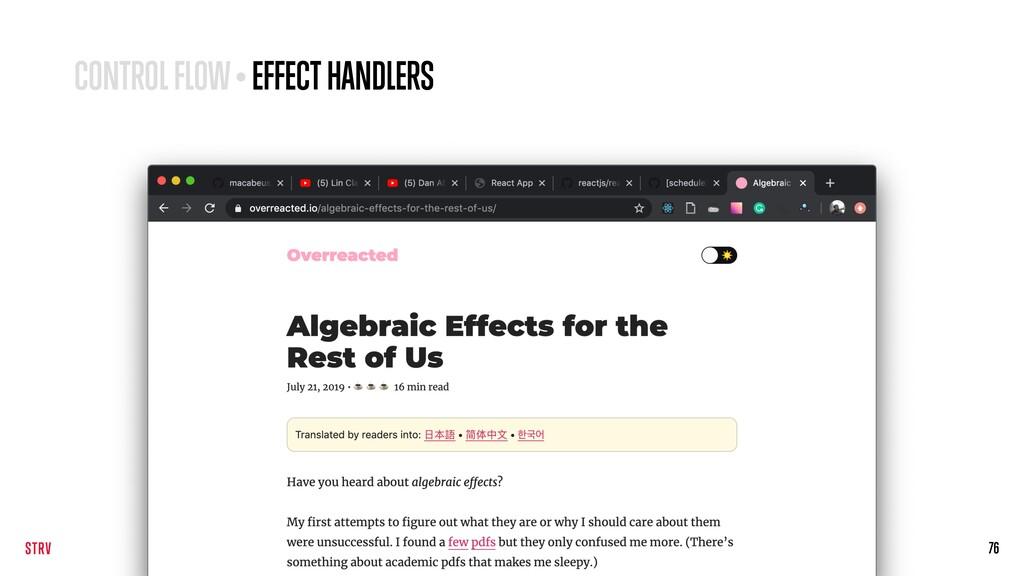 76 CONTROL FLOW • EFFECT HANDLERS