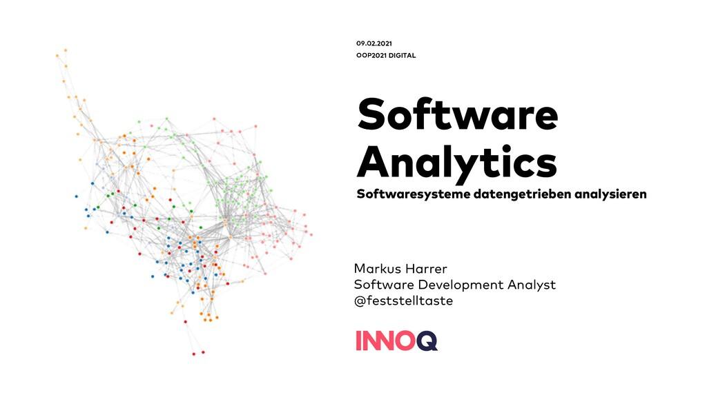 Software Analytics Softwaresysteme datengetrieb...