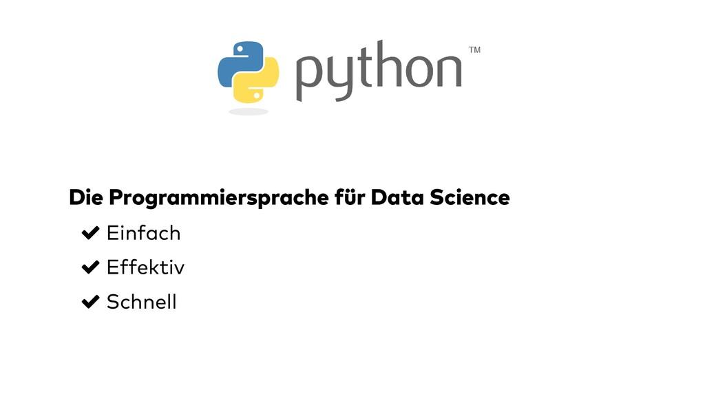 Die Programmiersprache für Data Science Einfach...