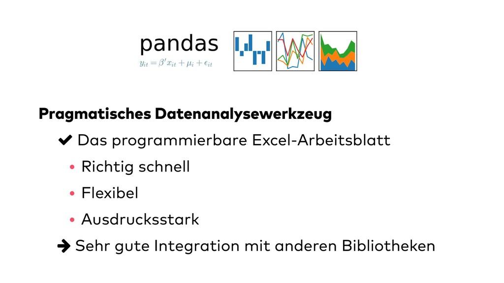 Pragmatisches Datenanalysewerkzeug Das programm...