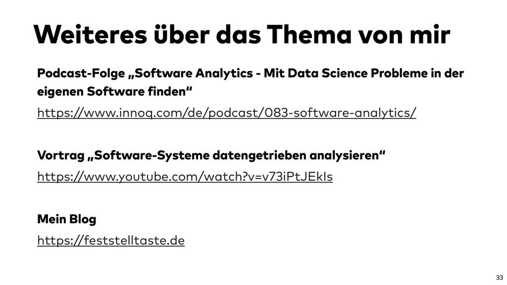 "Podcast-Folge ""Software Analytics - Mit Data Sc..."