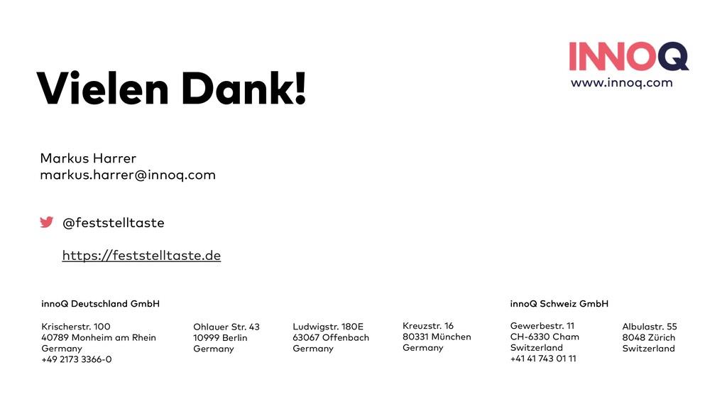 46 Vielen Dank! innoQ Deutschland GmbH Krischer...
