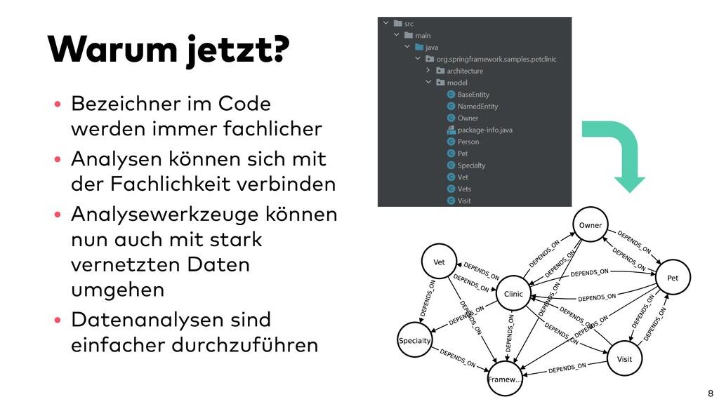 Warum jetzt? • Bezeichner im Code werden immer ...
