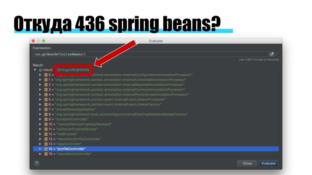Откуда 436 spring beans?