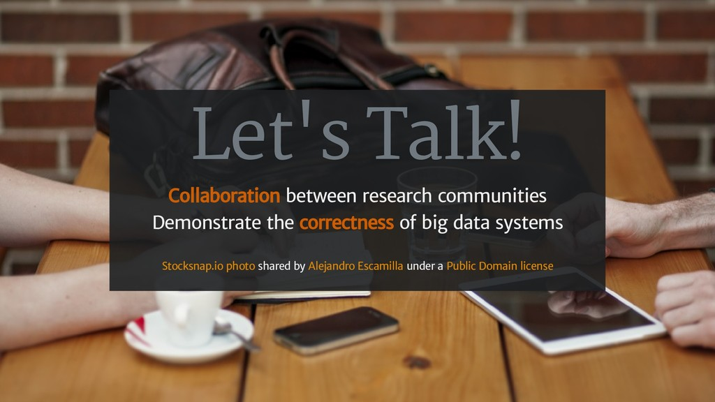Let's Talk! Collaboration between research comm...
