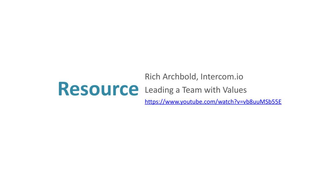 Resource Rich Archbold, Intercom.io Leading a T...