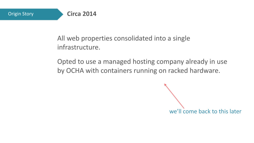 Circa 2014 All web properties consolidated into...