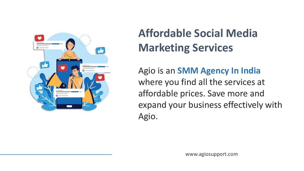 Affordable Social Media Marketing Services Agio...