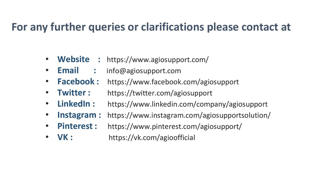 For any further queries or clarifications pleas...